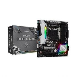 PLACA BASE ASROCK AM4 B450M STEEL LEGEND M-ATX/4XDDR4/6XSATA3/2XUSB