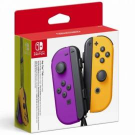 GAMEPAD NINTENDO SWITCH JOY CON NARANJA/MORADO NEON