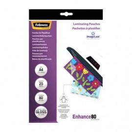 FUNDAS PLASTIFICAR FELLOWES A4 - 25 PCS - 80 MIC