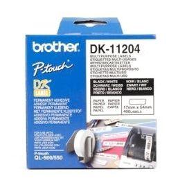 ETIQUETAS PAPEL PRECORTADA BROTHER DK11204 17