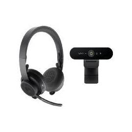 WEBCAM LOGITECH 4K + AURICULARES WIRELESS