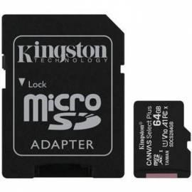 TARJETA DE MEMORIA MICRO SD HC KINGSTON 64GB + ADAPT