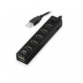 HUB USB EWENT 7 PUERTOS + ENTRADA 2.0