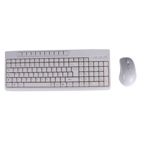 TECLADO + RATON KIT1901 BLANCO MULTIMEDIA