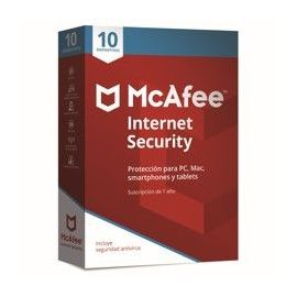 ANTIVIRUS MCAFEE INTERNET SECURITY 2018 10 DISPOSITIVOS