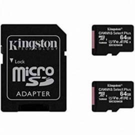 TARJETA DE MEMORIA MICRO SD KINGSTON 64GB 2 UNIDADES