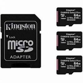 TARJETA DE MEMORIA MICRO SD KINGSTON 64GB 3 UNIDADES