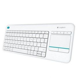 TECLADO LOGITECH K400 PLUS WIRELESS TOUCHPAD BLANC