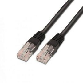 CABLE RED UTP CAT5E RJ45 AISENS 0.5M NEGRO